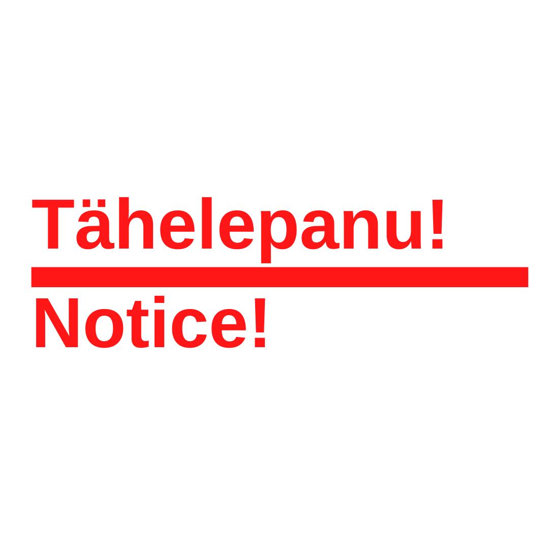 Tähelepanu!